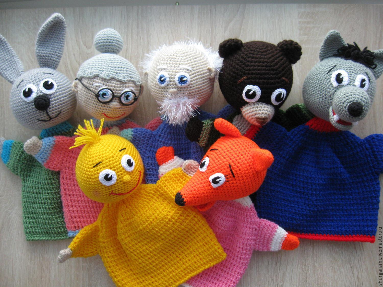 для крючком игрушки руками театра кукольного своими