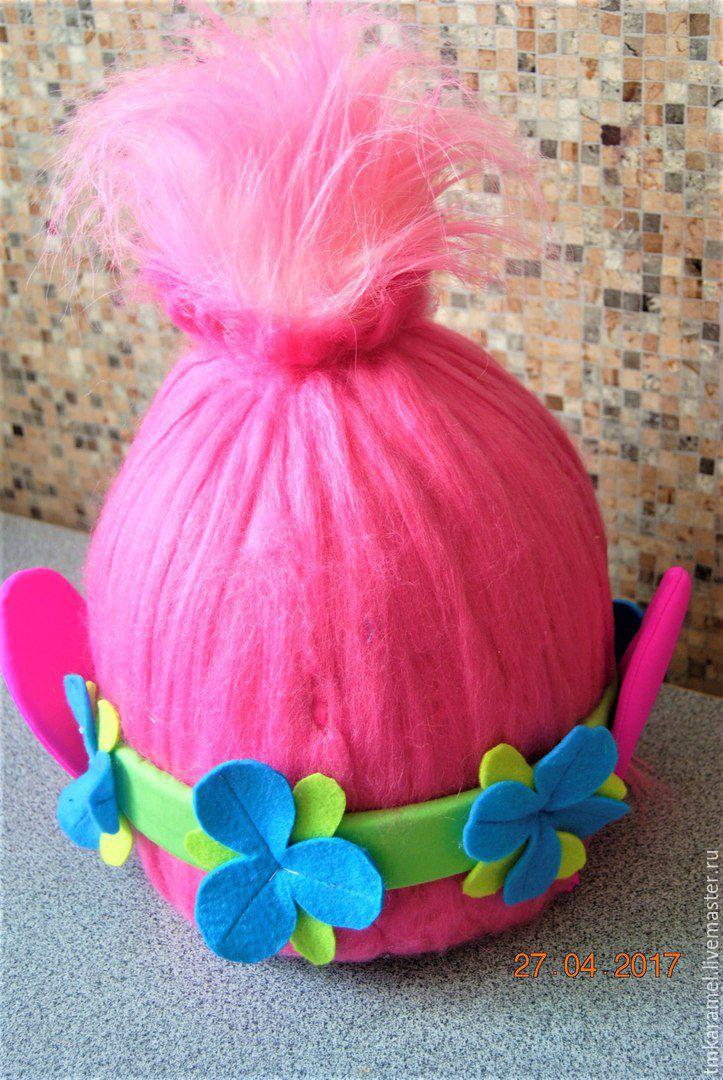 Как сделать парик розочки из троллей своими руками