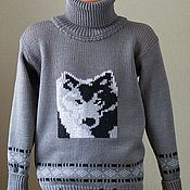 Работы для детей, ручной работы. Ярмарка Мастеров - ручная работа Свитер детский из шерсти Волк. Handmade.