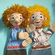 Куклы и игрушки ручной работы. Ярмарка Мастеров - ручная работа Ванька и Федька. Перчаточные куклы.. Handmade.
