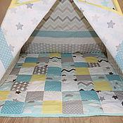 "Для дома и интерьера handmade. Livemaster - original item "" Wigwam for children ""Star cloud"". Handmade."