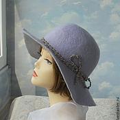 """Аксессуары handmade. Livemaster - original item Wool hat """"Lavender"""". Handmade."""