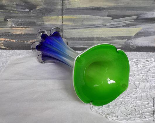 Винтажные предметы интерьера. Ярмарка Мастеров - ручная работа. Купить Ваза для цветов. Handmade. Комбинированный, стекло, калла, интерьер