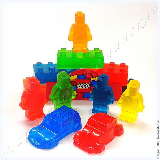 Мыло ручной работы. Ярмарка Мастеров - ручная работа. Купить Набор мыла Лего из 2-х любых деталей. Handmade.