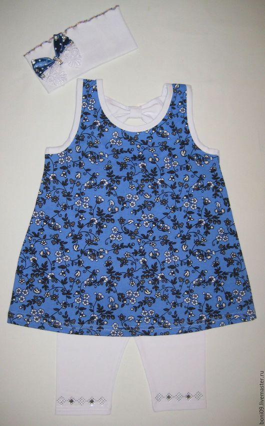 Одежда для девочек, ручной работы. Ярмарка Мастеров - ручная работа. Купить Костюм для девочки «Ноготки». Handmade. Синий, костюм для девочки