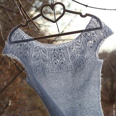 Одежда ручной работы. Ярмарка Мастеров - ручная работа Ажурный жилет из тончайшего мохера. Handmade.