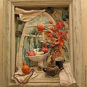 Картины и панно ручной работы. Ярмарка Мастеров - ручная работа Натюрморт для Юлианы.. Handmade.