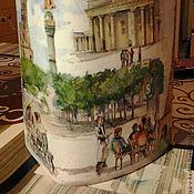 """Для дома и интерьера ручной работы. Ярмарка Мастеров - ручная работа Банка для сыпучих продуктов """"Берлин"""", картон, декупаж. Handmade."""