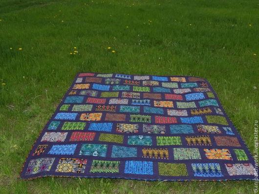 Текстиль, ковры ручной работы. Ярмарка Мастеров - ручная работа. Купить ЛОСКУТНОЕ ...покрывало ........... Handmade. Лоскутное шитье, хлопок 100%