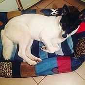 Для домашних животных, ручной работы. Ярмарка Мастеров - ручная работа Лоскутная лежанка для собаки средних размеров.. Handmade.