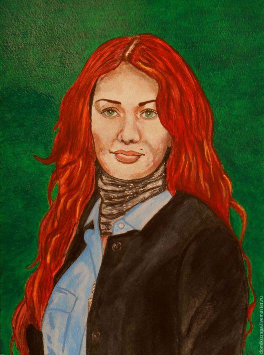 """Люди, ручной работы. Ярмарка Мастеров - ручная работа. Купить Портрет """"Николь"""". Handmade. Комбинированный, красивая девушка, портрет в подарок"""