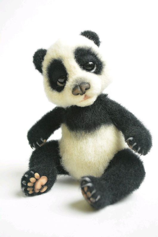 Куклы и игрушки ручной работы. Ярмарка Мастеров - ручная работа. Купить Панда. Авторская игрушка из шерсти.. Handmade. валяная игрушка