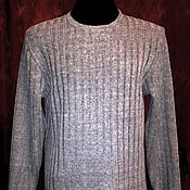 Одежда handmade. Livemaster - original item 100% linen yarn men`s long sleeve jumper