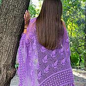 Аксессуары handmade. Livemaster - original item Shawl crochet purple. Handmade.