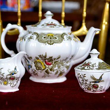 Винтаж ручной работы. Ярмарка Мастеров - ручная работа Чайный набор из чайника, сахарницы и молочника. Англия. Handmade.