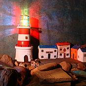 """Для дома и интерьера ручной работы. Ярмарка Мастеров - ручная работа светильник """"маяк"""". Handmade."""