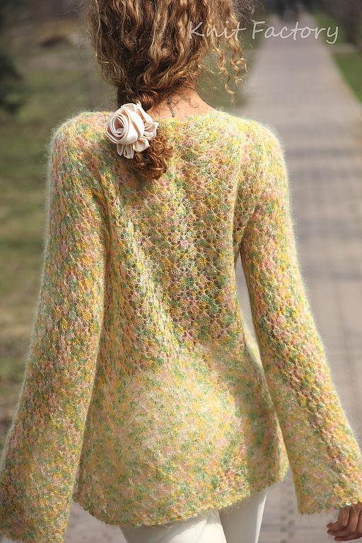 """Кофты и свитера ручной работы. Ярмарка Мастеров - ручная работа. Купить Джемпер """"Sunshine"""". Handmade. Джемпер, желто-зеленый, кофта"""