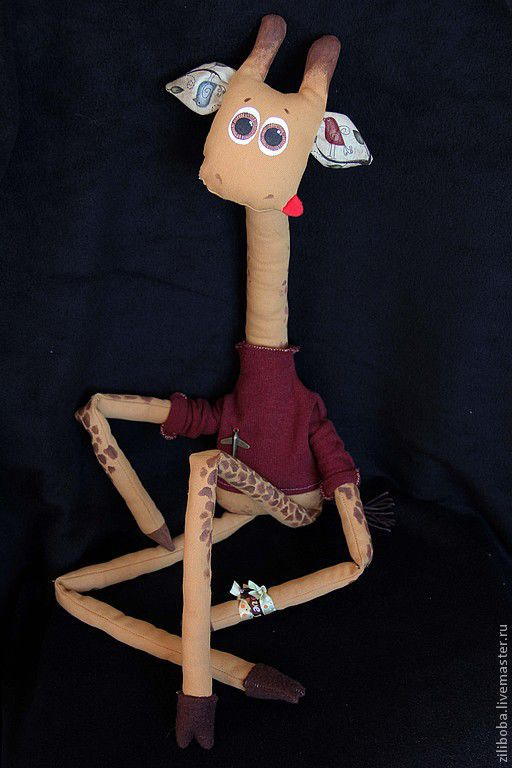 Игрушки животные, ручной работы. Ярмарка Мастеров - ручная работа. Купить Жираф-ребеночек) хлопок. Handmade. Жирафик, хлопок