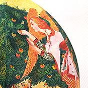 """Для дома и интерьера ручной работы. Ярмарка Мастеров - ручная работа Светильник потолочный (абажур подвесной) батик """"Четыре светлых"""". Handmade."""