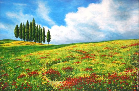 Картина `Цветущая Тоскана`