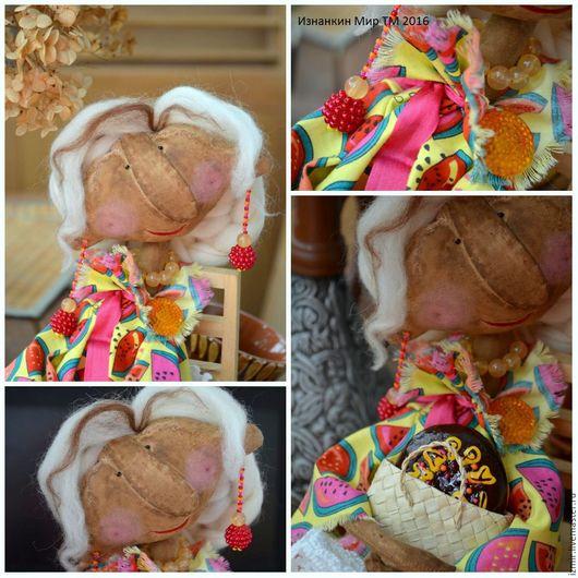 Ароматизированные куклы ручной работы. Ярмарка Мастеров - ручная работа. Купить Интерьерная Кукла С днем Рождения Лето Чердачная кукла Подарок женщине. Handmade.