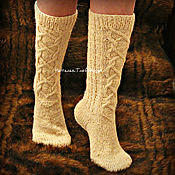 Аксессуары handmade. Livemaster - original item Socks with a faux lace