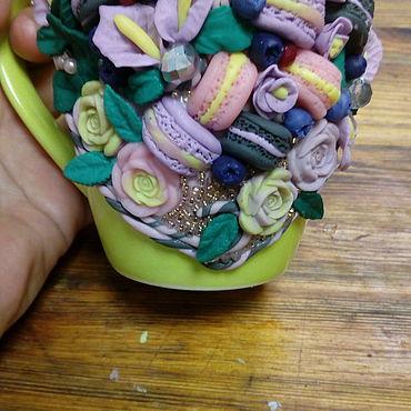 Посуда ручной работы. Ярмарка Мастеров - ручная работа Кружки с декором. Handmade.