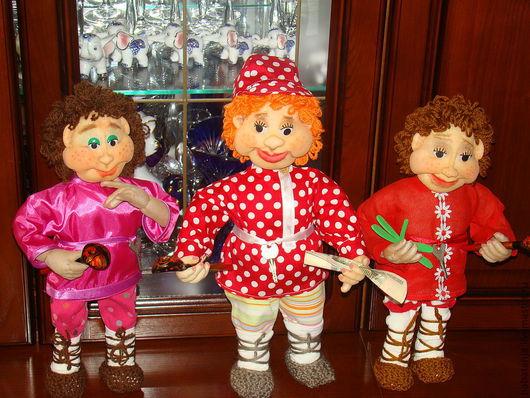 Человечки ручной работы. Ярмарка Мастеров - ручная работа. Купить куклы из капрона -домовой и домовушка. Handmade. Домовой и домовушка, синтепон