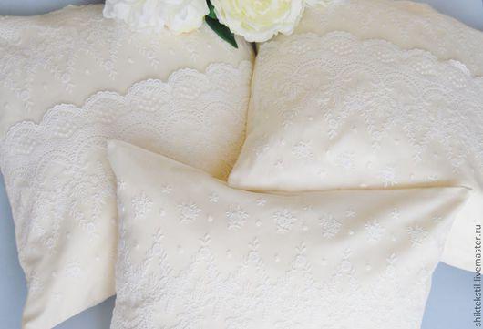 Подарки на свадьбу ручной работы. Ярмарка Мастеров - ручная работа. Купить Декоративные подушки. Handmade. Лимонный, декоративная подушка, наволочка