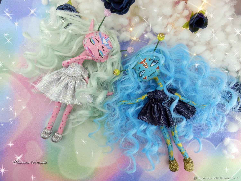 Коллекционные куклы ручной работы. Ярмарка Мастеров - ручная работа. Купить 'Cosmo girls' Текстильные куклы. Handmade. Космос