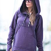 Одежда handmade. Livemaster - original item Women`s sweatshirt. Purple jacket. The shirt is from cotton. Handmade.