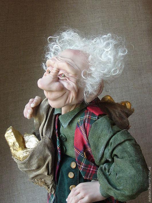 """Коллекционные куклы ручной работы. Ярмарка Мастеров - ручная работа. Купить """"Несет в Ваш дом богатство Гном"""". Handmade. Гном"""