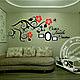 Интерьерные слова ручной работы. Ярмарка Мастеров - ручная работа. Купить Композиция на стену. Handmade. Ярко-красный
