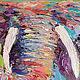 """Животные ручной работы. Картина со слоном """"Мудрые Глаза"""" (масло, холст). ЯРКИЕ КАРТИНЫ Наталии Ширяевой. Ярмарка Мастеров."""