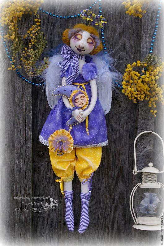 Сказочные персонажи ручной работы. Ярмарка Мастеров - ручная работа. Купить интерьерная кукла Лунный Ангел. Handmade. Ангел хранитель