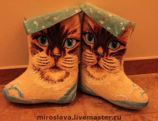Обувь ручной работы. Ярмарка Мастеров - ручная работа. Купить Валенки. Handmade.