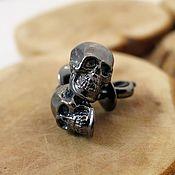 Украшения handmade. Livemaster - original item Skull earrings stud skull earrings sterling silver small skull earring. Handmade.
