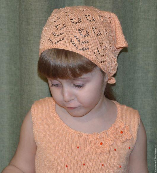Шапки и шарфы ручной работы. Ярмарка Мастеров - ручная работа. Купить косынка для девочки, летняя  ажурная косынка. Handmade.