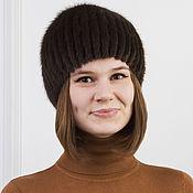 Аксессуары ручной работы. Ярмарка Мастеров - ручная работа Женская шапка-сноп из норки. Handmade.
