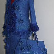 """Одежда ручной работы. Ярмарка Мастеров - ручная работа Костюм валяный """"Синяя глазурь"""". Handmade."""
