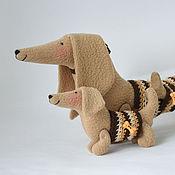 Куклы и игрушки ручной работы. Ярмарка Мастеров - ручная работа Такса с таксёнком. Handmade.