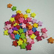 Материалы для творчества handmade. Livemaster - original item Star acrylic beads mix color 10mm. Handmade.