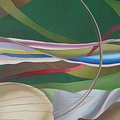 """Картины и панно ручной работы. Ярмарка Мастеров - ручная работа картина маслом 40х100 """"Вечерние орхидеи"""". Handmade."""