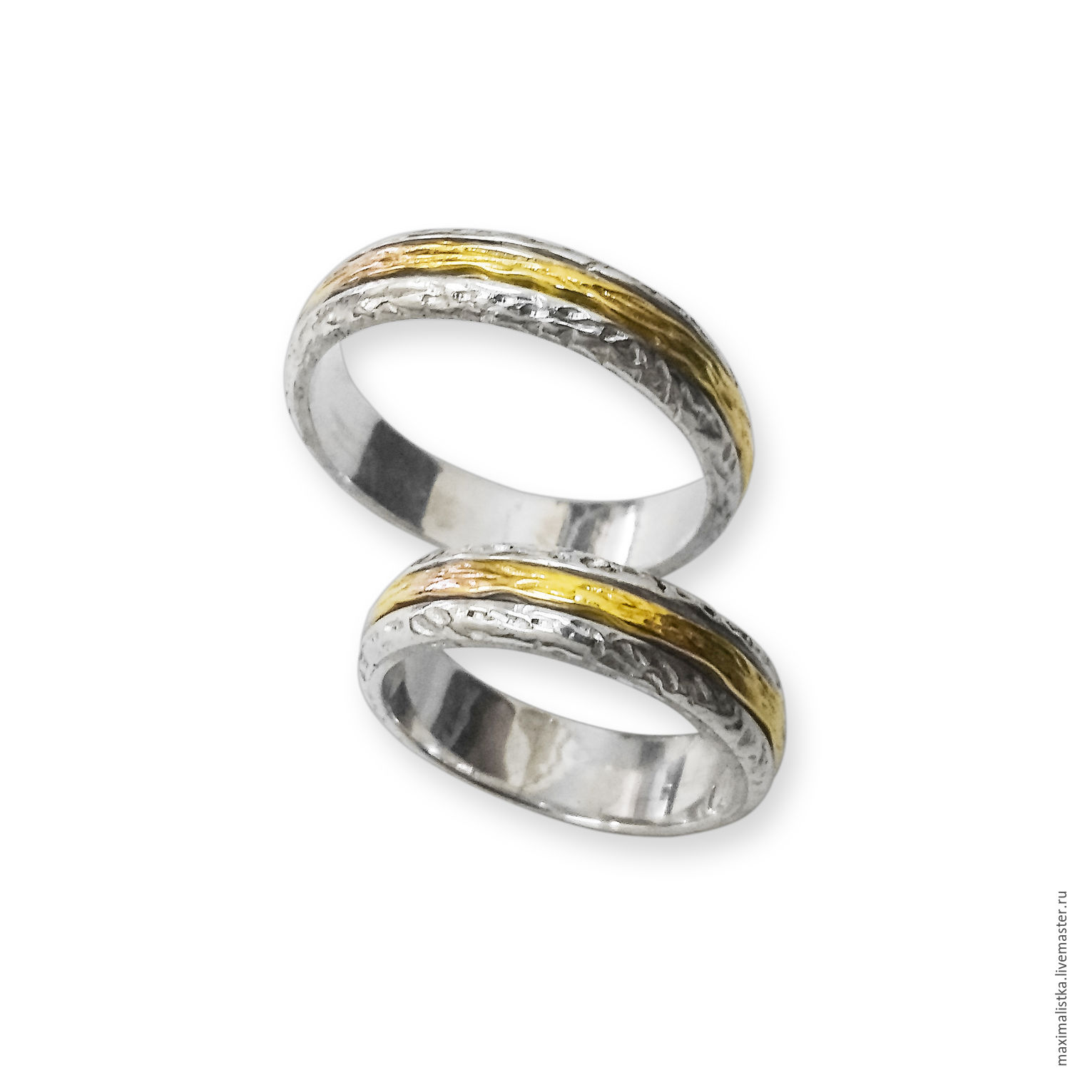 "buy wedding rings ""the union of two hearts"" of gold and silver on"