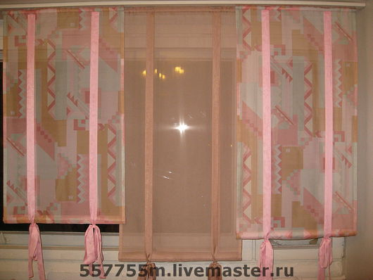 Текстиль, ковры ручной работы. Ярмарка Мастеров - ручная работа. Купить Комплект штор  до подоконника.. Handmade. Шторы, Вуаль однотонная