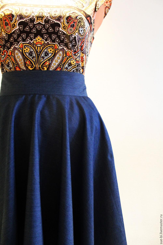 e28fdfdd045 ... джинсовая юбка солнце купить джинса юбка солнце хлопок юбка солнце  летняя пышная юбка синяя юбка солнце