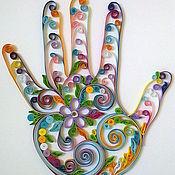 """Картины и панно ручной работы. Ярмарка Мастеров - ручная работа Картина в стиле квиллинга """"Счастье"""". Handmade."""