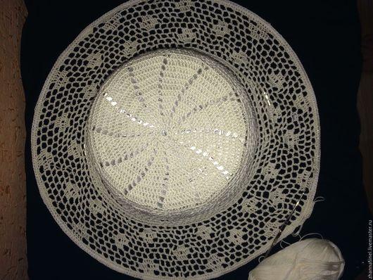 Шляпы ручной работы. Ярмарка Мастеров - ручная работа. Купить Летняя шляпа. Handmade. Бежевый, шляпа с полями, хлопок мерсеризованный