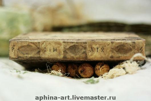 Блокноты ручной работы. Ярмарка Мастеров - ручная работа. Купить Книга Предсказаний. Handmade. Бумага ручной работы, оливковый