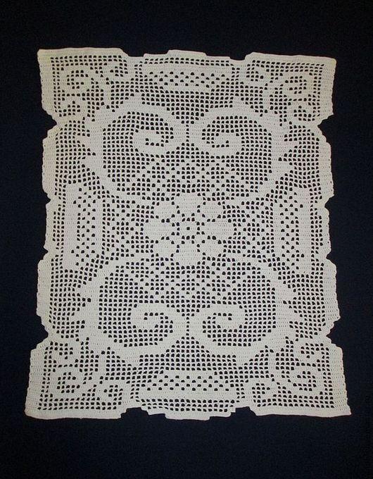Текстиль, ковры ручной работы. Ярмарка Мастеров - ручная работа. Купить Салфетка № 2. Handmade. Белый, кружево филе